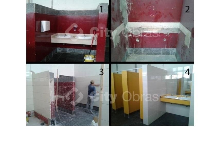Remodelação de casa de banho lavatório comunitário