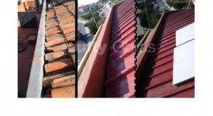 Substituição de cobertura e telhas