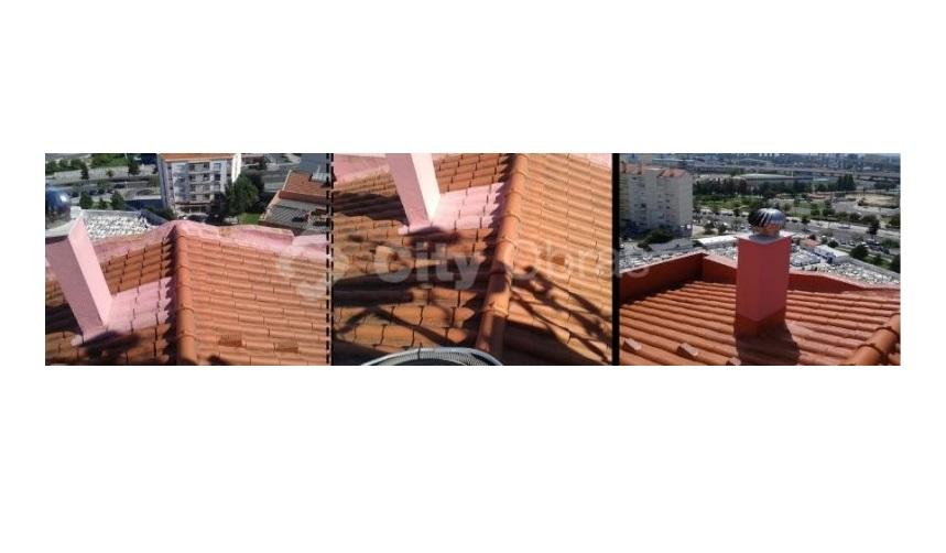 Substituição de telhas reabilitação de edifício