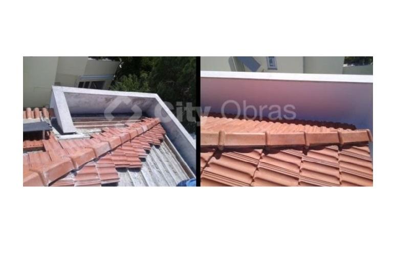 infiltrações em telhados substituição de telhas