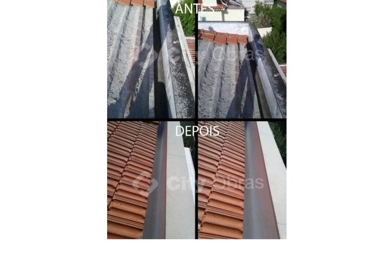 reabilitação de cobertura substituição de telhas