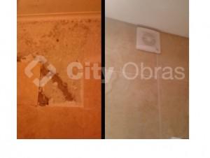 remodelação de casa de banho aplicação de exaustor