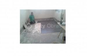 remodelação de casa de banho aplicação de pavimento
