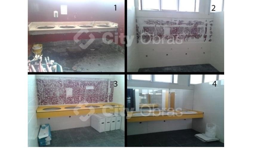 remodelação de casa de banho lavatórios