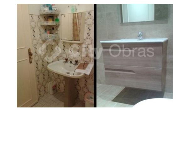 remodelação de casa de banho substituição de lavatório