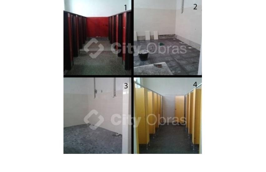 remodelação de casas de banho divisórias em fenólicos