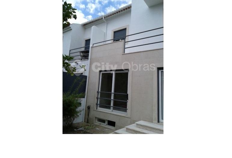 remodelação de fachada de vivenda
