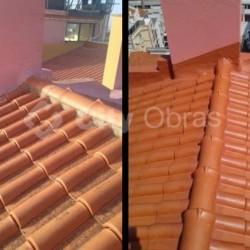 substituição de telhas em cobertura de edifício