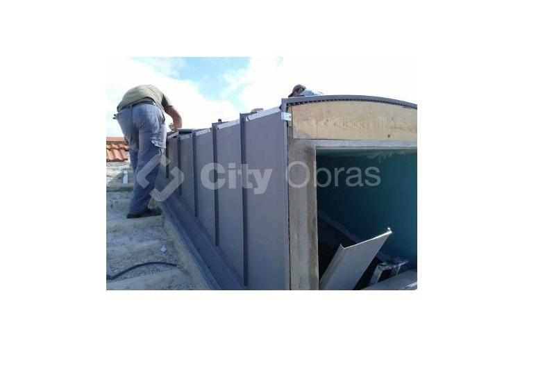 substiuição de telhas aplicação de água-furtada