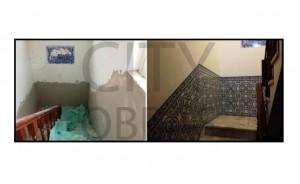 Restauração de escadas em moradia