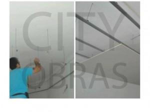 construção de clínica teto