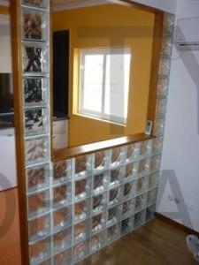 remodelação de apartamento com tijolo de vidro